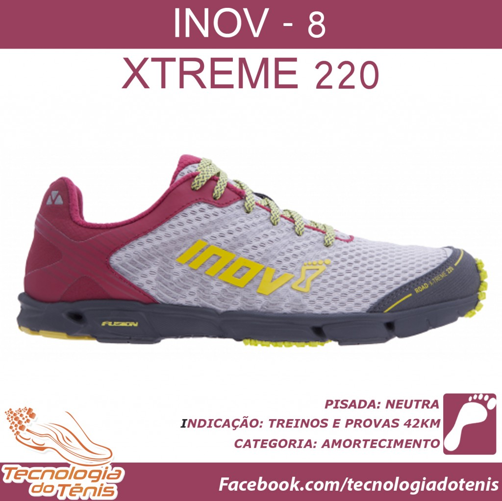 Tecnologia do Tenis - Inov8 Road-220