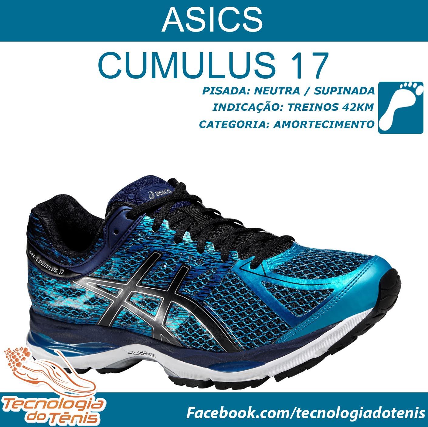 ec72074ffd2 Asics Cumulus 17 - Tecnologia do Tênis